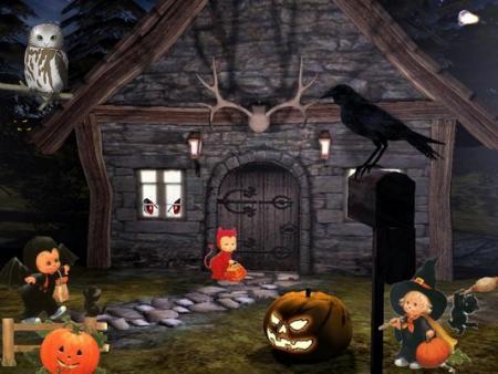 D coration maison hant e halloween - Deco halloween maison ...