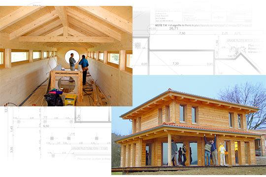 D coration maison ossature bois for Modele maison ossature bois