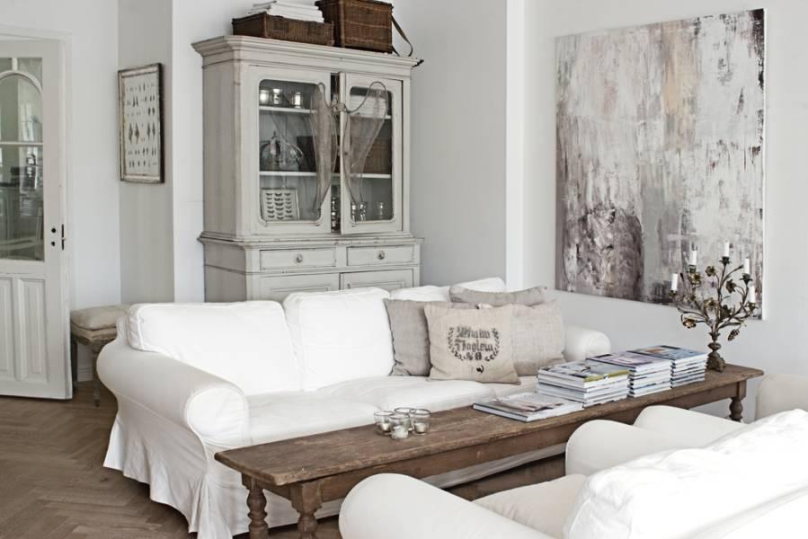 Photo décoration maison style campagne chic