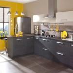 deco cuisine gris et jaune