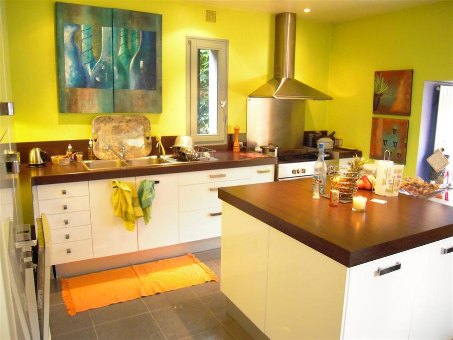 Idée Deco Cuisine Gris Et Jaune - Idee deco cuisine grise pour idees de deco de cuisine