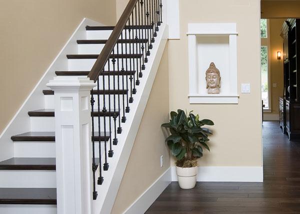 exemple deco peinture escalier bois - Photo Déco