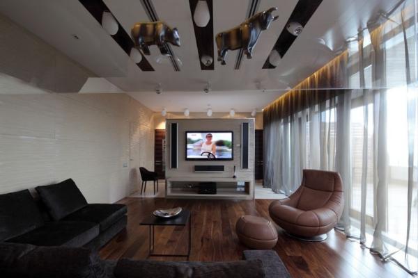 deco salon en longueur. Black Bedroom Furniture Sets. Home Design Ideas