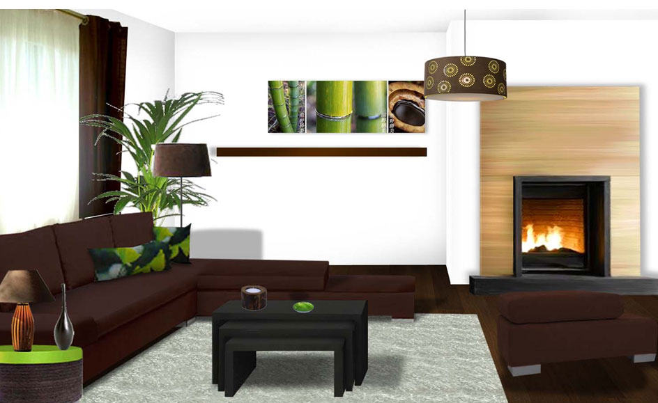 Deco salon exotique for Ideas para decorar mi sala moderna