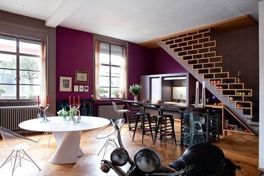 deco salon noir blanc fushia deco salon rouge et noir chambre rose - Bleu Attu Salon
