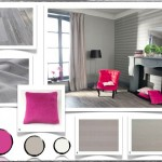 deco salon gris et rose