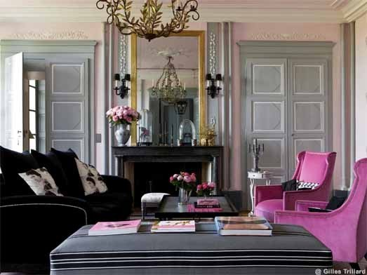deco salon gris et rose. Black Bedroom Furniture Sets. Home Design Ideas