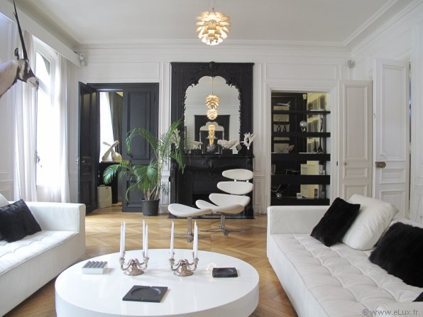 deco salon haussmannien. Black Bedroom Furniture Sets. Home Design Ideas