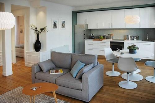 deco salon haussmannien. Black Bedroom Furniture Sets. Home Design Ideas