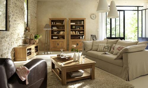 Deco salon inspiration for Deco salon meuble en bois