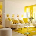 deco salon jaune et vert