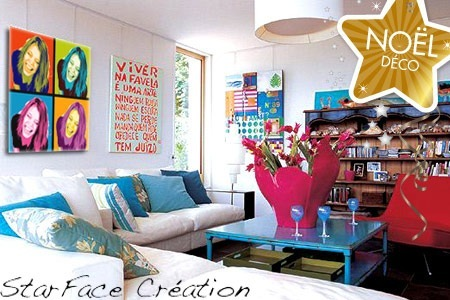 d coration salon pop art. Black Bedroom Furniture Sets. Home Design Ideas