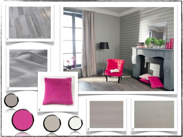 Deco salon rose et gris for Deco gris et rose