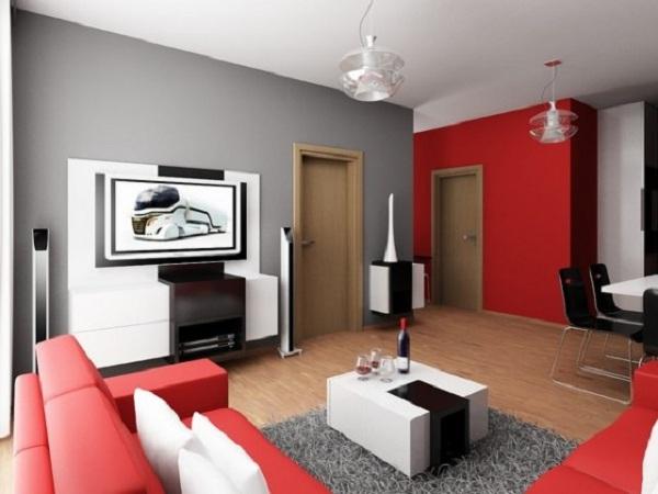Deco salon rouge et gris - Salon rouge et gris ...