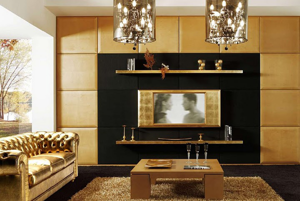 deco salon tv. Black Bedroom Furniture Sets. Home Design Ideas