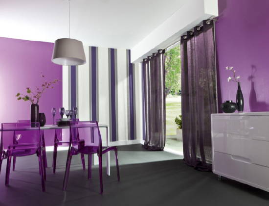 Model Maison Violet : Deco salon violet