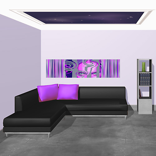 deco salon violet. Black Bedroom Furniture Sets. Home Design Ideas