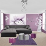 Deco salon violet et gris for Deco salon gris et mauve