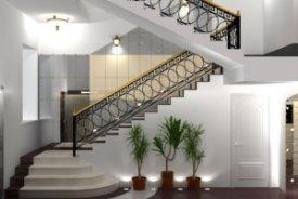 modèle decoration couloir avec escalier