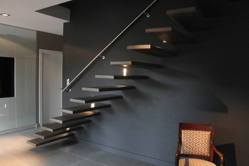 decoration descente escalier interieur. Black Bedroom Furniture Sets. Home Design Ideas