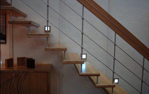 Decoration descente escalier interieur for Eclairage escalier interieur