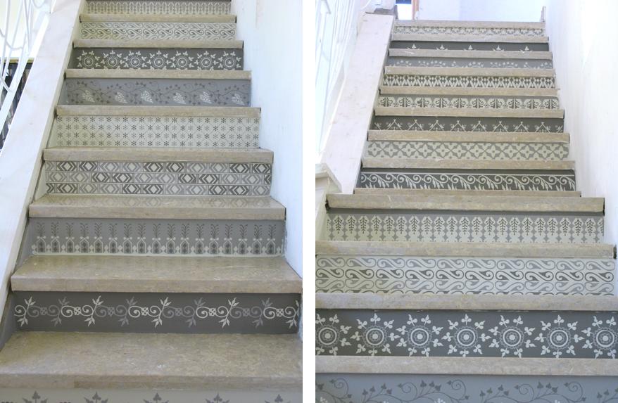 Organisation Decoration Dun Escalier En Bois