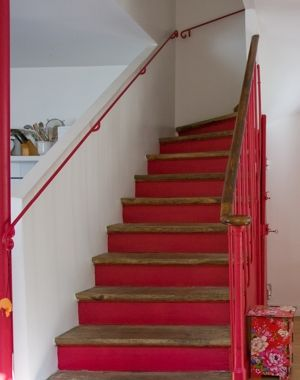 Photo decoration escalier bois