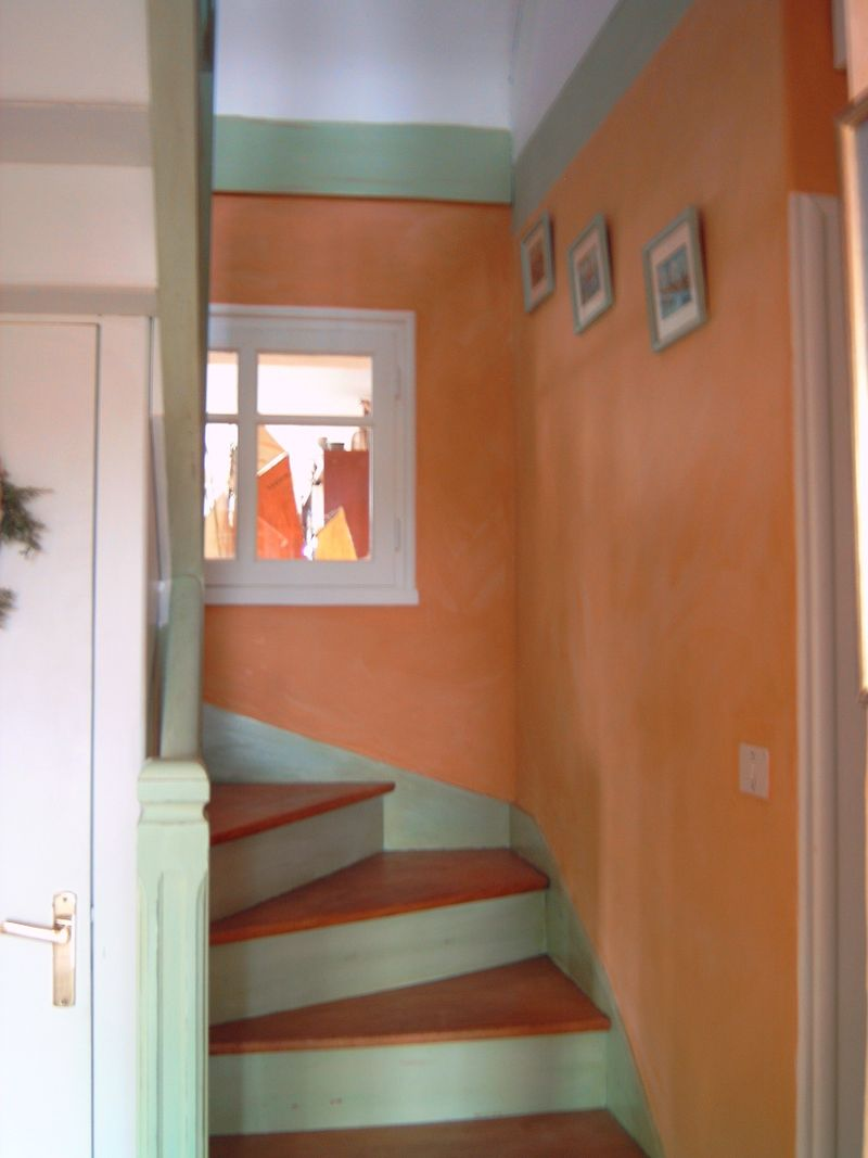 Photo decoration decoration escalier bois - Decoration escalier interieur ...