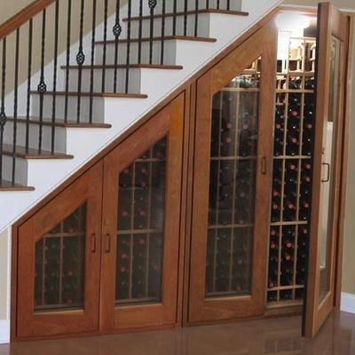 idée decoration escalier cave