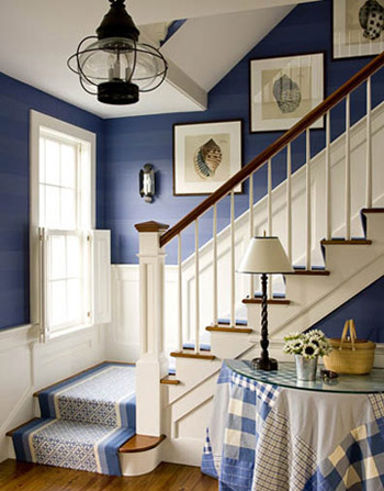 Jolie decoration escalier en bois