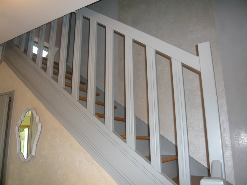 Decoration Montee Escalier Bois Gris