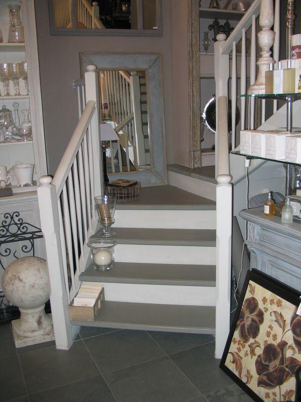 Escalier Bois Gris. Best Dco Peinture Pour Escalier Bois Interieur