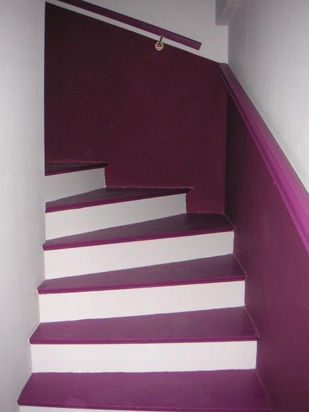 deco escalier gris. Black Bedroom Furniture Sets. Home Design Ideas