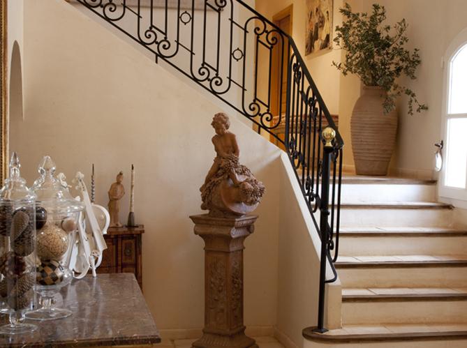 aménagement decoration escalier marbre