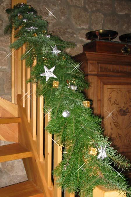 Decoration escalier noel for Escaleras de adorno