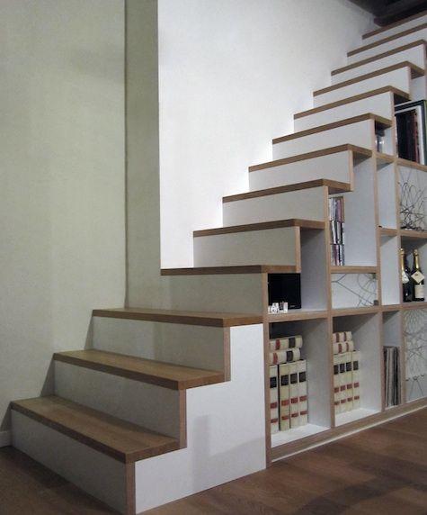 decoration escalier rangement. Black Bedroom Furniture Sets. Home Design Ideas