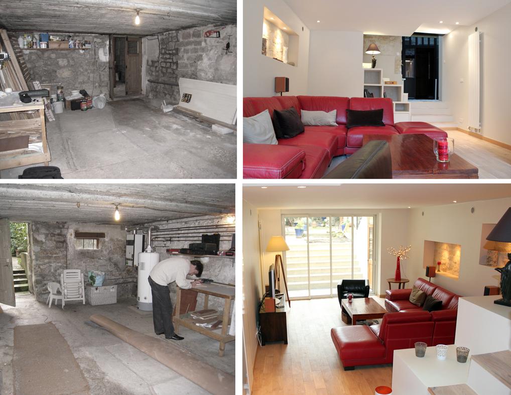 decoration escalier sous sol. Black Bedroom Furniture Sets. Home Design Ideas