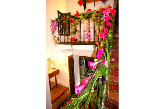 aménagement decoration rampe escalier mariage