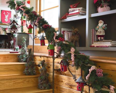 decoration rampe escalier noel. Black Bedroom Furniture Sets. Home Design Ideas
