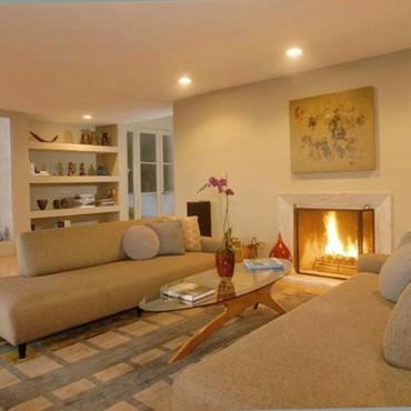 Decoration salon avec cheminee - Modele decoration salon ...