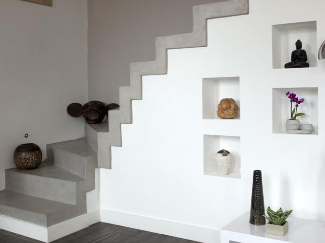 D co salon avec escalier for Decoration d un salon maison