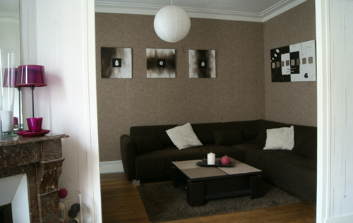 Univers Decoration Salon Beige Et Marron