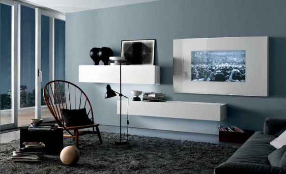 Stunning Decoration Salon Bleu Gris Images - Antoniogarcia.info ...