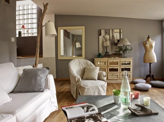 univers decoration salon gris et bois - Salon Gris Et Bois