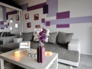 Decoration salon gris et mauve - Decoration salon mauve et gris ...