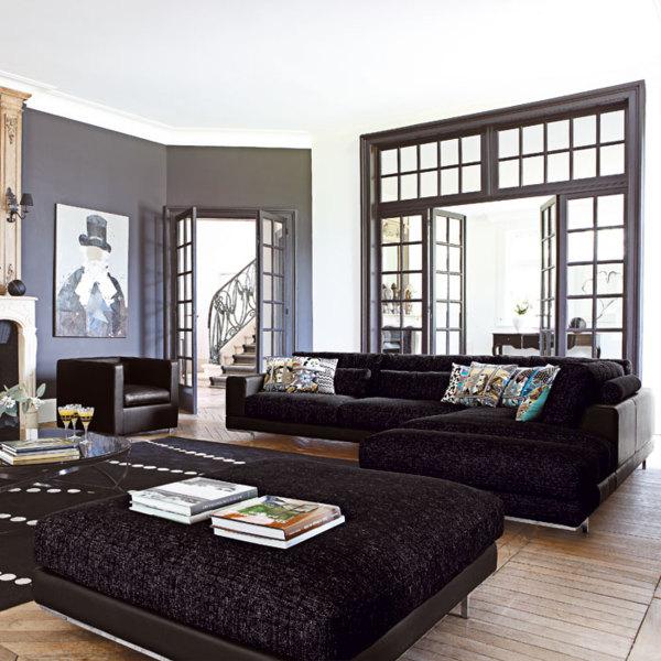 p o decoration salon gris fonce 9 g - Salon Gris Clair Et Anthracite