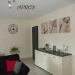 decoration salon gris fuchsia