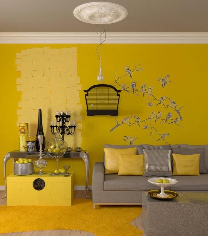 Decoration salon jaune et blanc - Salon jaune et blanc ...