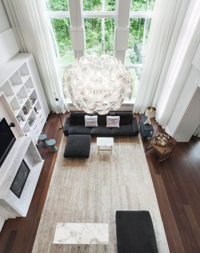 decoration salon parquet fonce. Black Bedroom Furniture Sets. Home Design Ideas