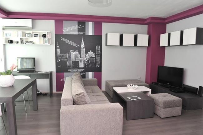 Decoration salon pour petit appartement - Table pour petit appartement ...